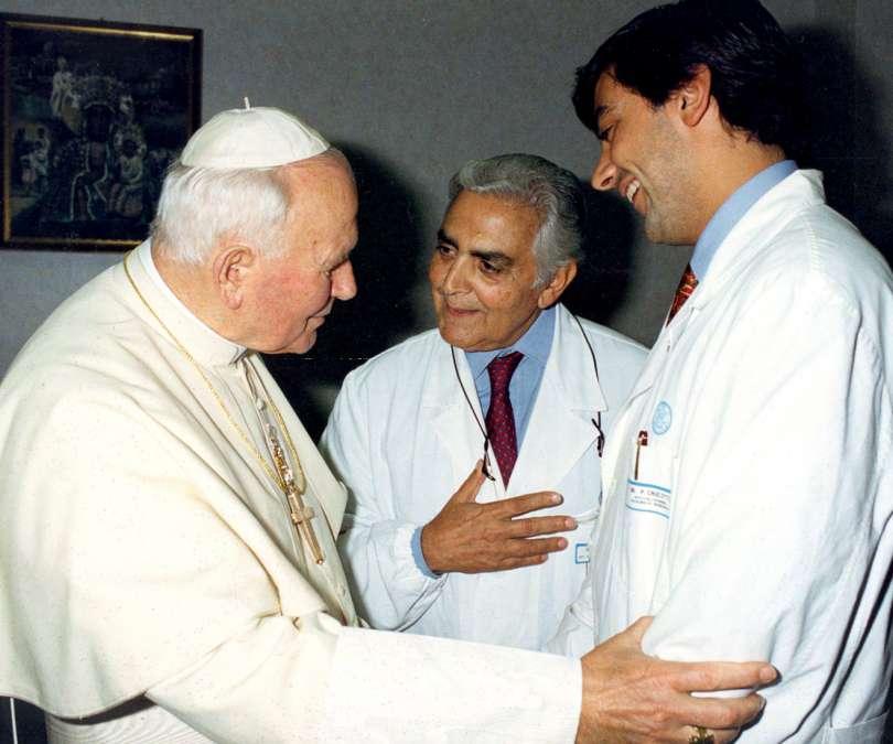 Giovanni Paolo II e il professor Crucitti